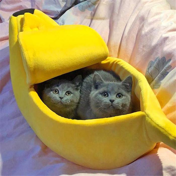 luckhome banana cat bed