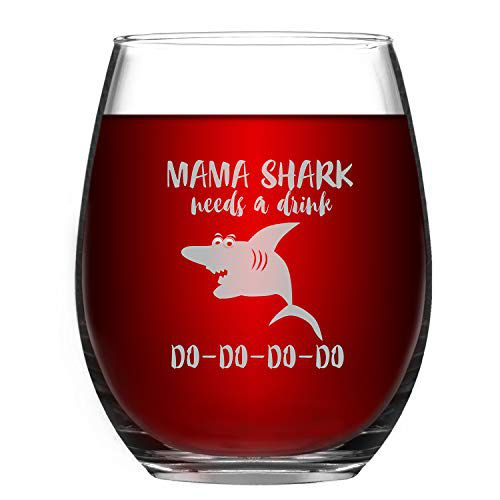 mama shark wine glass