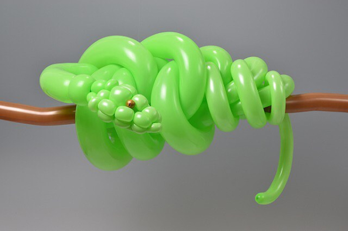 matsumoto colorful twisted balloon sculptures snake