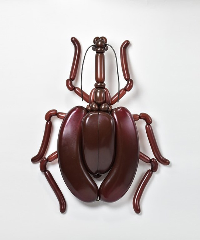 matsumoto colorful twisted balloon sculptures violin beetle