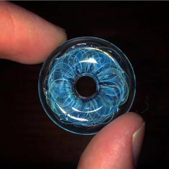 memorial glass donut shape