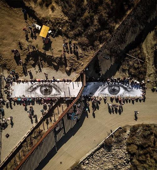 mexico border art installation picnic