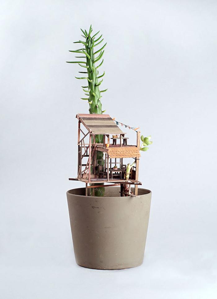 miniature tree houses somewhere small series