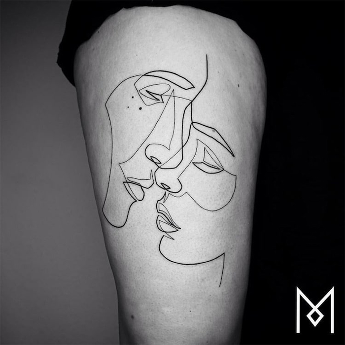Tattoo Artist Uses One Continuous Line to Create Beautiful ...