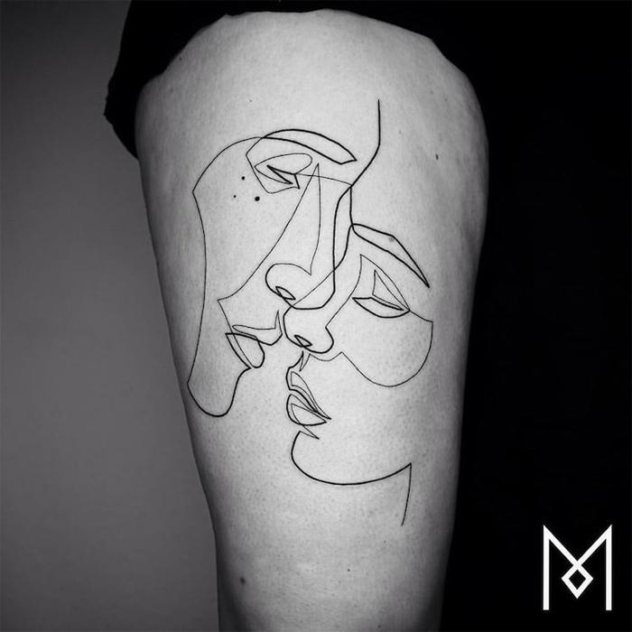 minimalist tattoos mo ganji