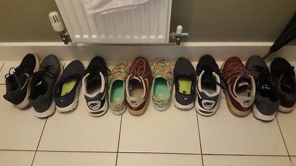 monster roommate disorganized shoes