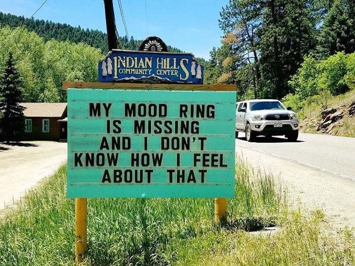 mood ring missing pun road signs