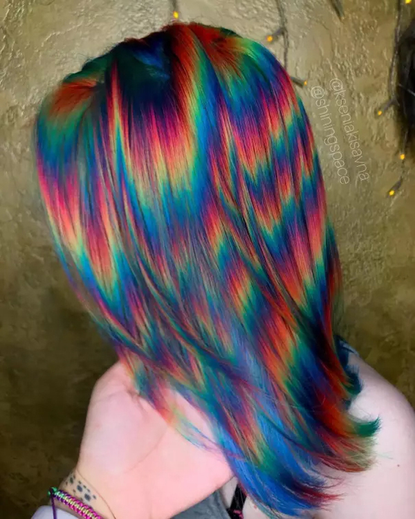 multi-colored hair awful taste perfect execution