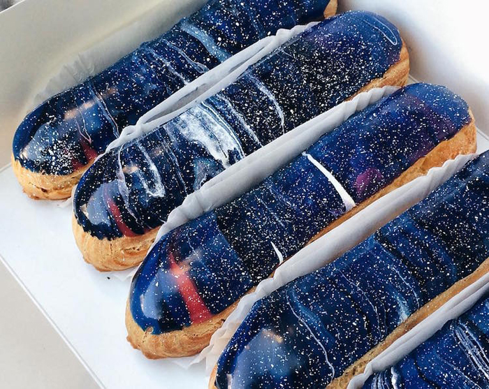 musse confectionery space-inspired eclairs