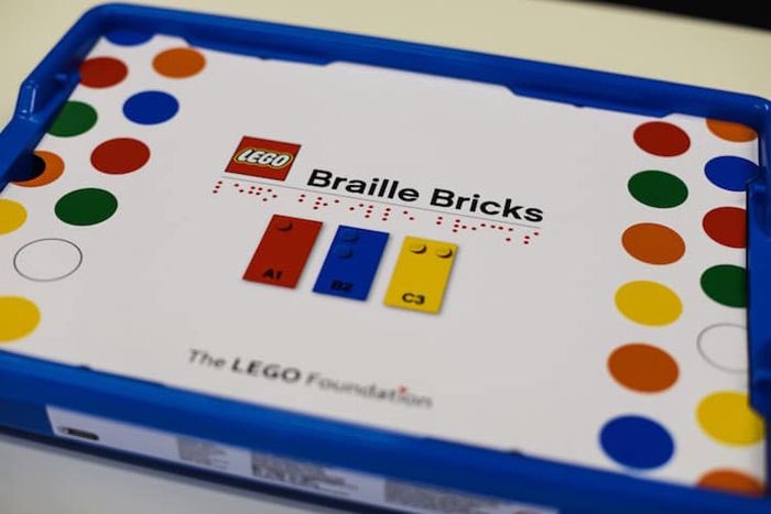 new lego set braille system