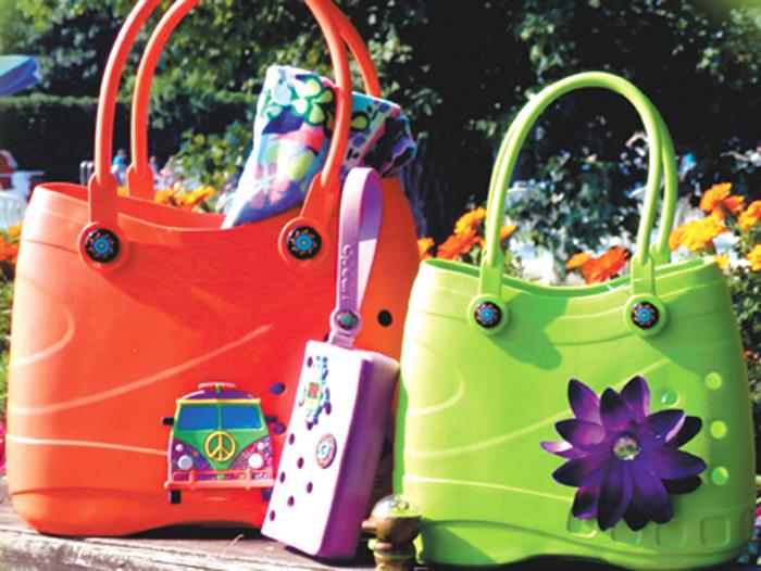 optari crocs-inspired tote bags