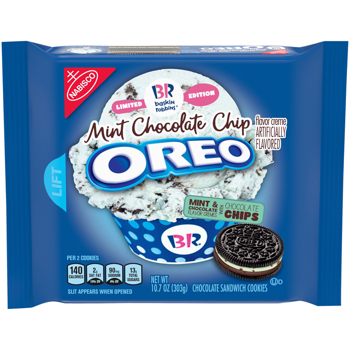 oreo baskin-robbins mint chocolate flavor