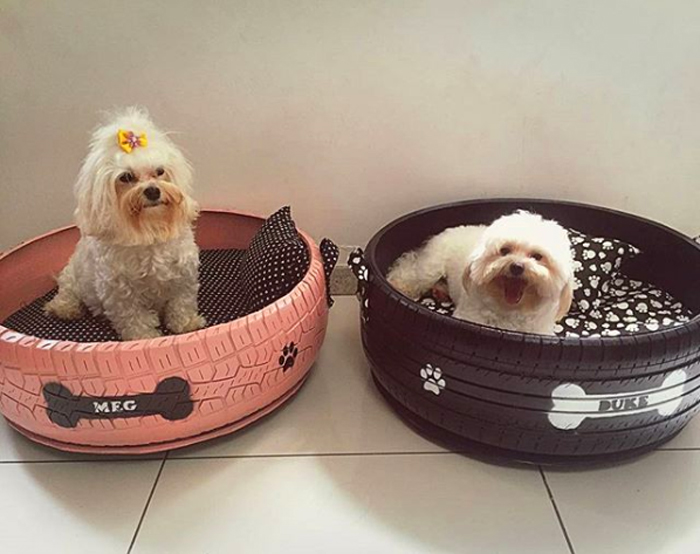 pet beds made from old tires
