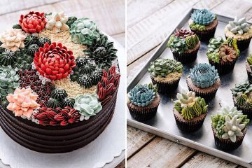 plant cakes and cupcakes