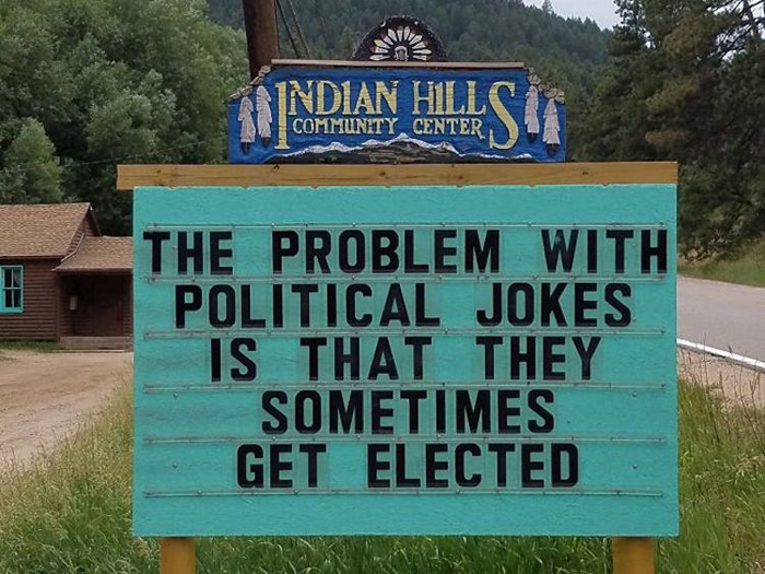 political jokes pun road signs