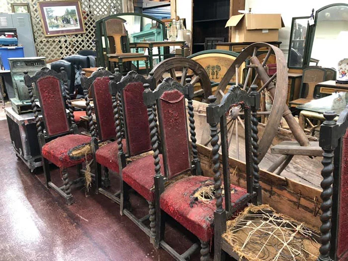 previous owner finds chairs thrift store