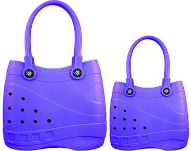 purple croc bag