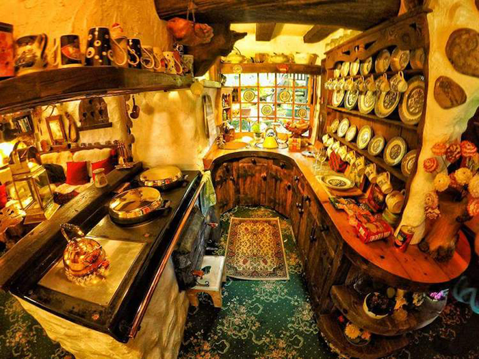 real-life hobbit house interior kitchen