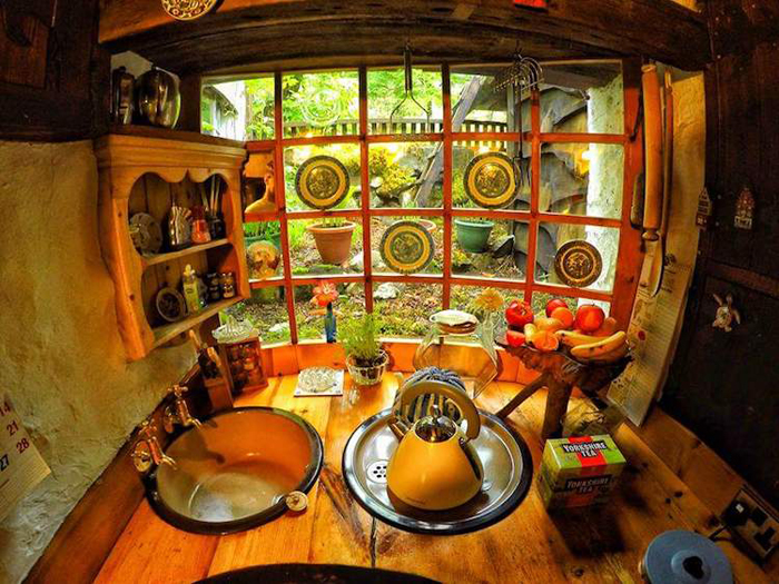 real-life hobbit house kitchen
