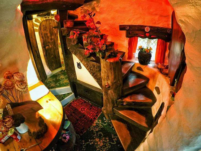 real-life hobbit house staircase