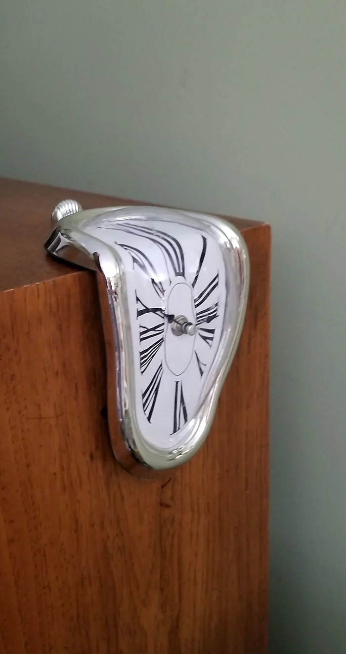 salvador dali-inspired clock