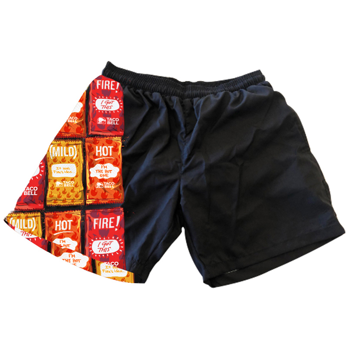 sauce packet swim trunks taco bell