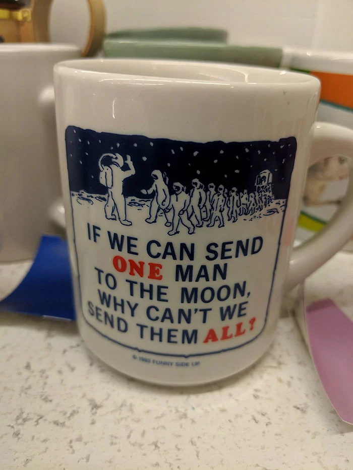 send all men to moon mug