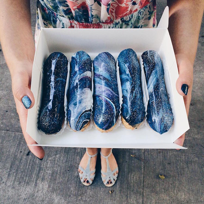 space-inspired eclairs musse confectionery