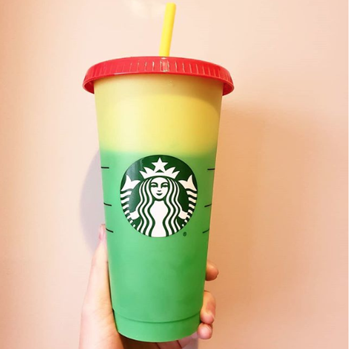 starbucks color-changing reusable cups