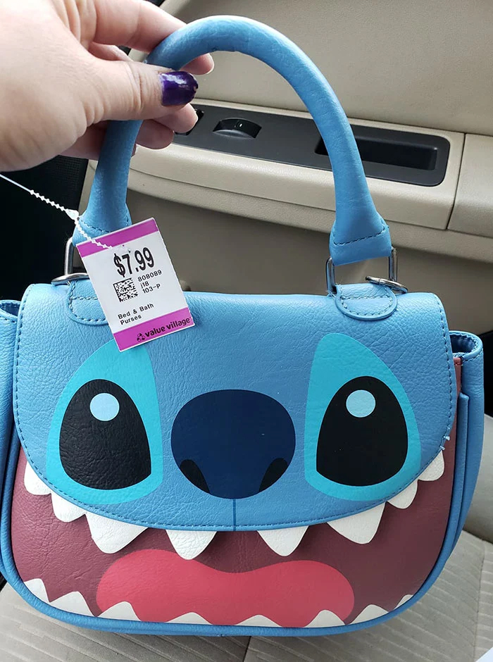 stitch purse thrift store
