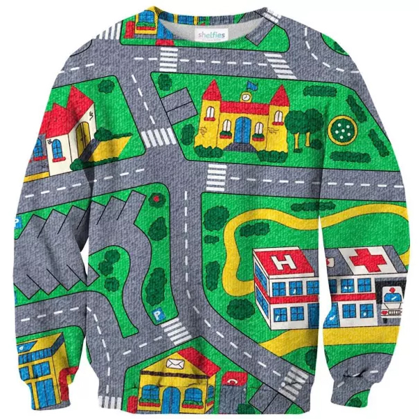 sweater map awful taste perfect execution