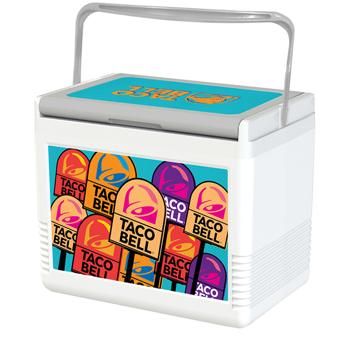 taco bell pop art cooler