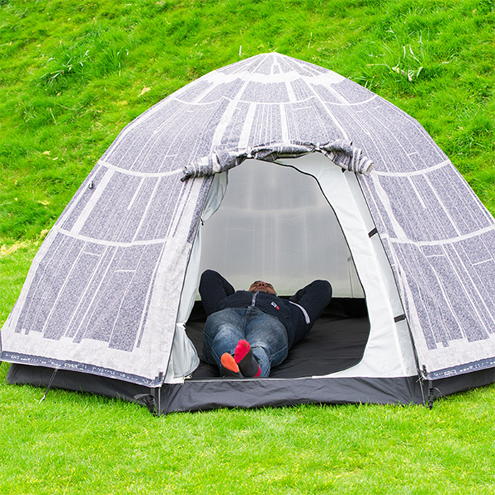 thinkgeek death star tent