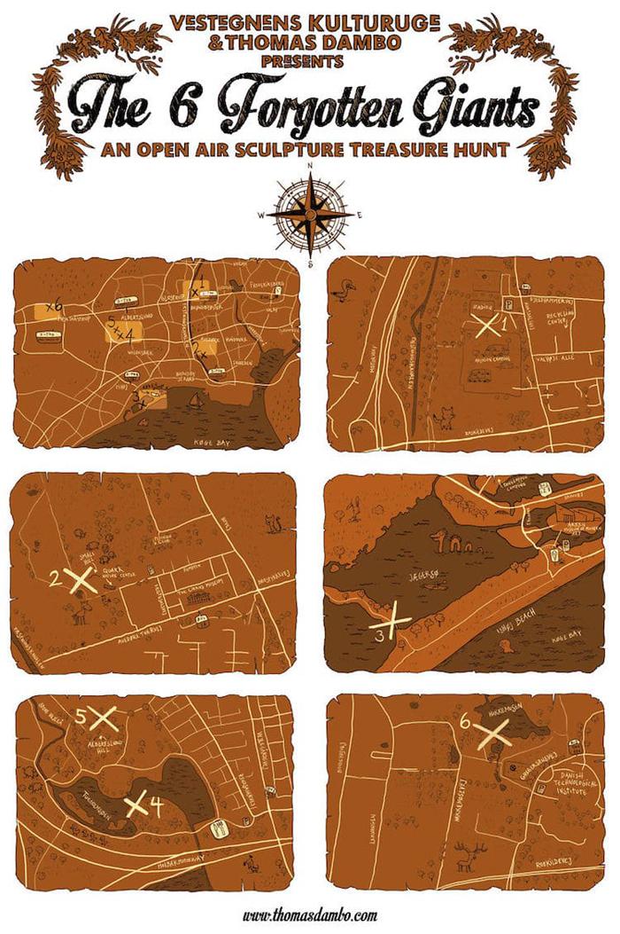 treasure hunt map thomas dambo
