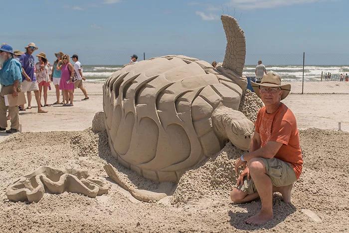 turtle sand sculpture todd pangborn