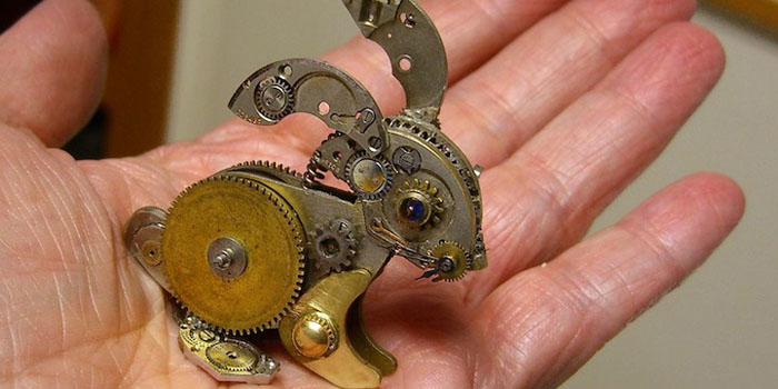 upcycle pocket watches into sculptures