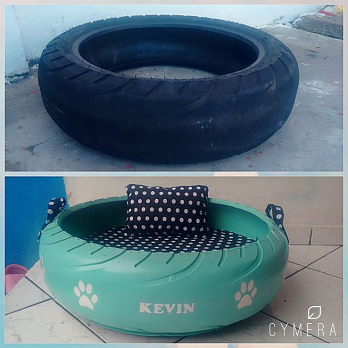 upcycled tires pet beds transformation