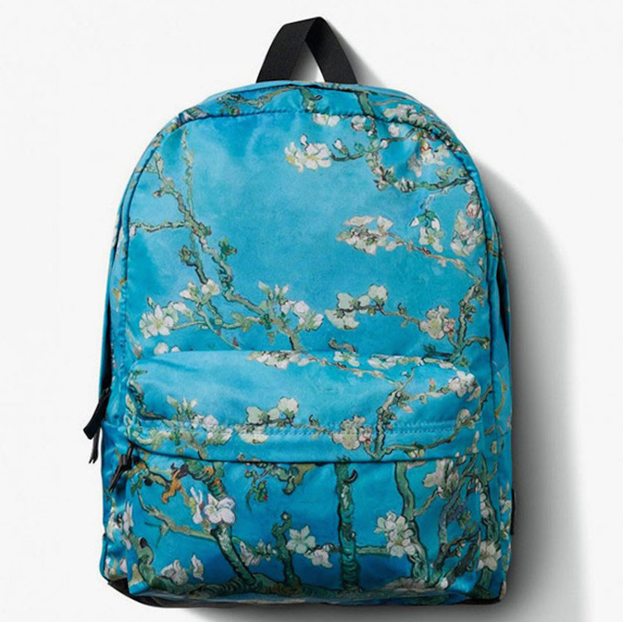 vans backpack van gogh almond blossoms