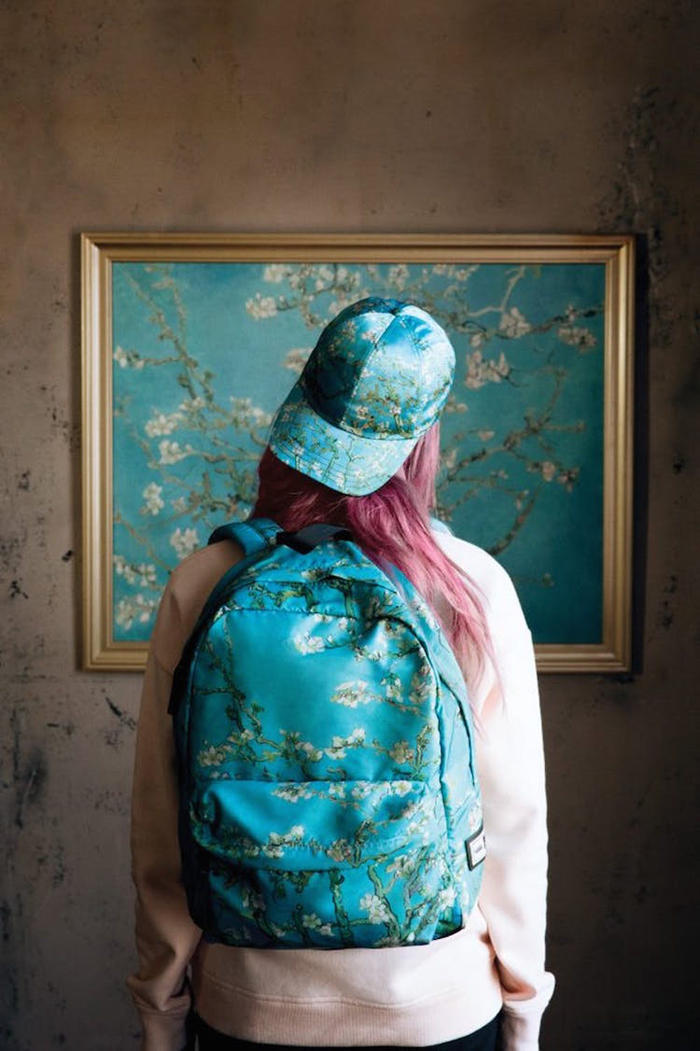 vans cap backpack van gogh almond blossoms