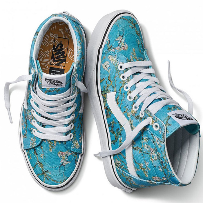 vans sneakers van gogh almond blossoms