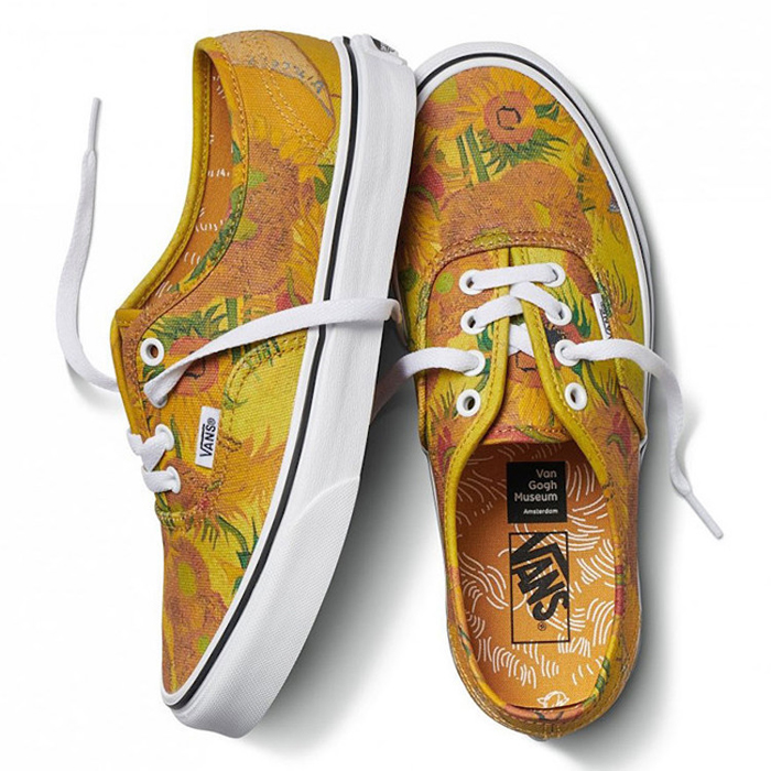 vans sneakers van gogh sunflower