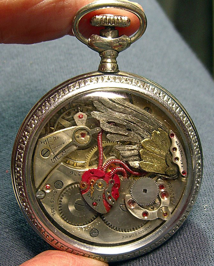 vintage pocket watch spectacular tiny sculptures