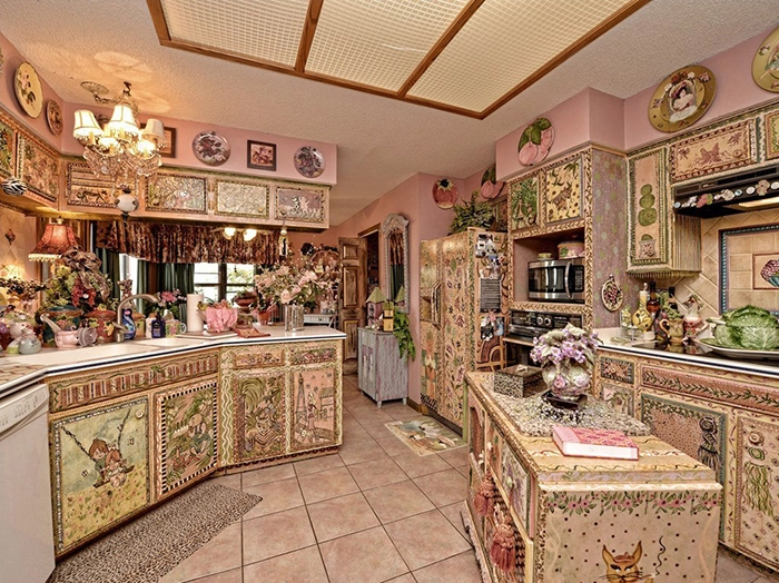 weird ranch style house kitchen