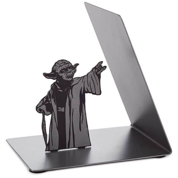 yoda bookend metal frame