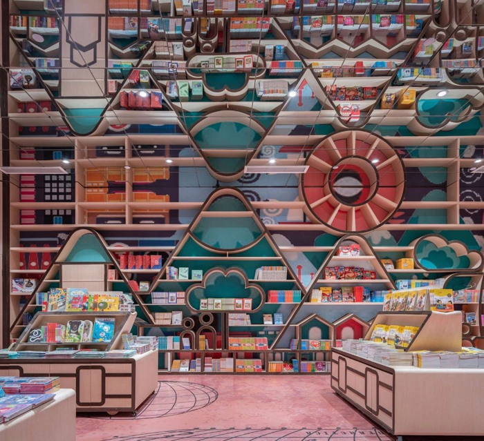 zhongshuge bookstore children reading room optical illusion