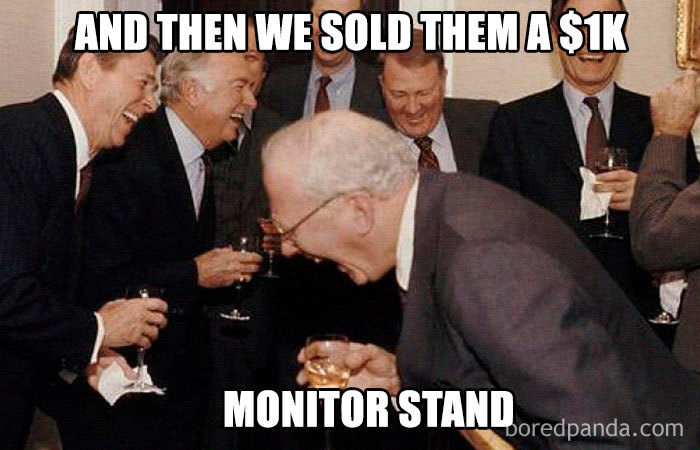 1k monitor stand funny meme
