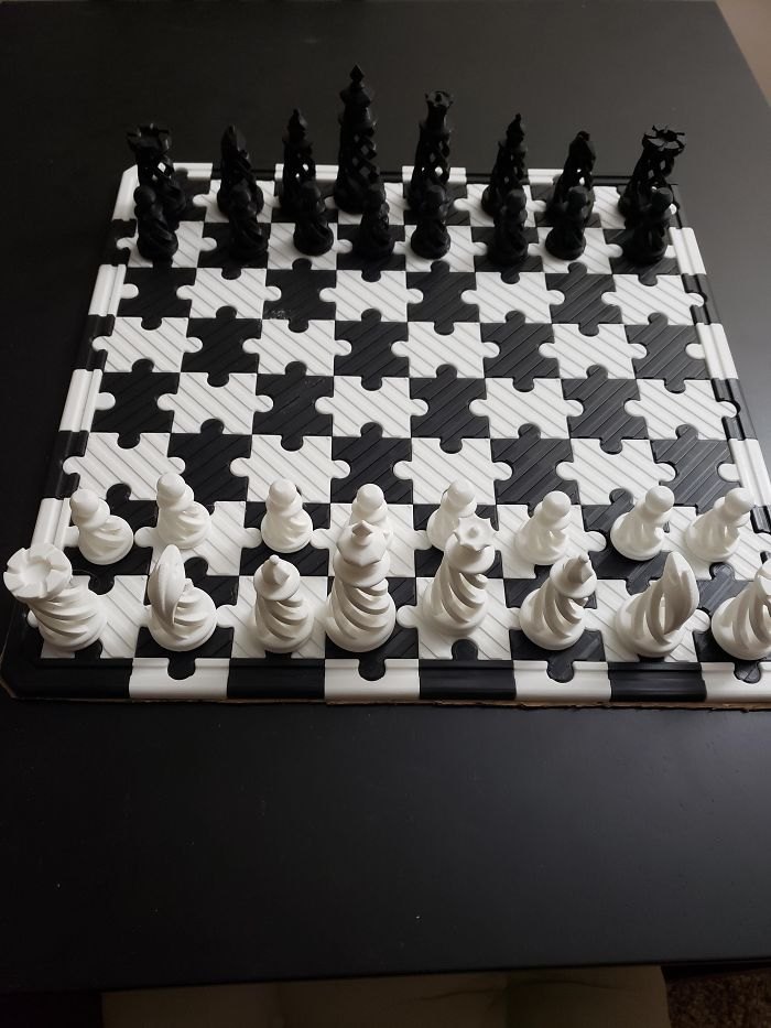 3d printing brilliant creations chess puzzle