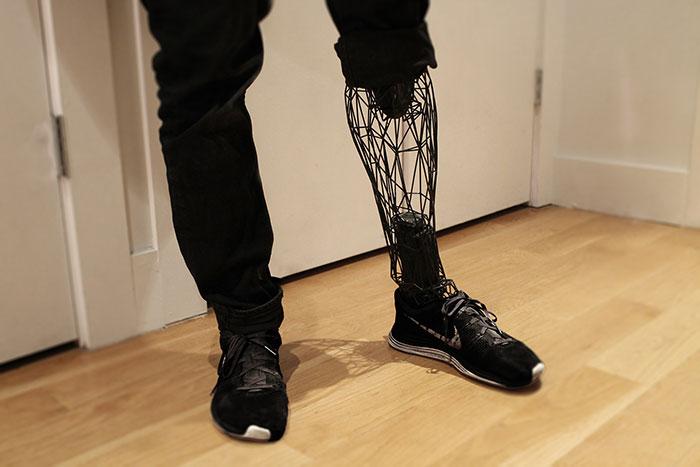3d printing brilliant creations titanium prosthetic leg