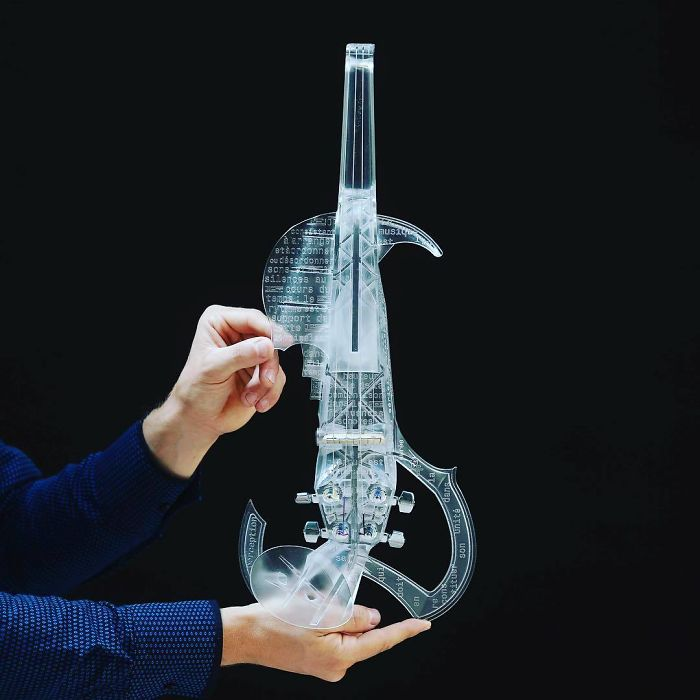 3d printing brilliant creations transparent violin