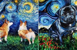 Aja Trier Starry Night Dog Series